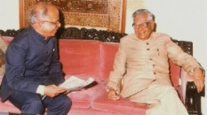 President of India, Sri R Venkatraman in 1987 with M N Gogate